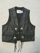 Park V Black Leather Vest Size M Men Motorcycle
