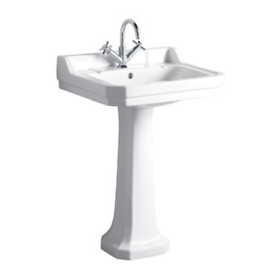 Rochester Edwardian 560mm 1 Tap Hole Traditional Basin & Pedestal | RRP £169