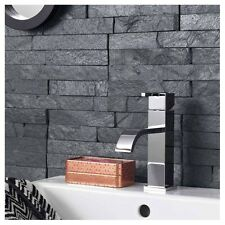 Black Slate Split Face Mosaic Tile Rock Panels - 3D Wall Cladding - Sample