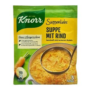 5x Knorr Suppenliebe 🍲 Suppe mit Rind noodle soup with beef ✈TRACKED SHIPPING
