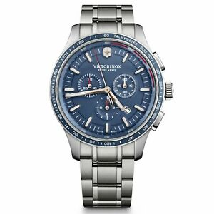 Victorinox Swiss Army Alliance Sport Chronograph Blue Dial Silver 241817