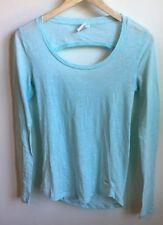 PINK Victoria Secret Top Light Blue Long Sleeve T-shirt Open Back Detail Small