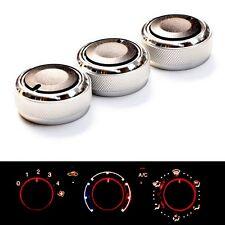 3pcs/Set A/C Air Condition Control Switch Knob Button For Toyota VIOS Vela Vitz
