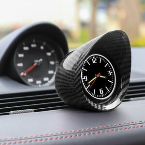 Carbon Fiber Car Truck Interior Dashboard Clock Automotive Luminous Backlight