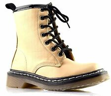 Infant Girls New Lace Up Grip Sole Zip Mid Calf Biker Ankle Boots Shoes Size