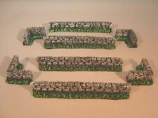 Painted 10x brickwalls for wargames scenery and building terrain. for 10mm, 15mm