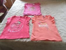 Lot 3 Tee-Shirts , 18 MOIS, Rose /Orange ,  Marque  Orchestra  , Excellent état