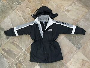 Vintage Los Angeles Kings Starter Trench Coat Hockey Jacket, Size XL