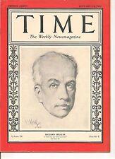 Time Magazine January 24, 1927 Richard Strauss