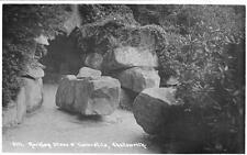 Rocking Stone & Turnstile Chatsworth unused RP pc 1909