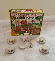 Vintage Childrens China Tea Set 12 Piece 1980s Complete Fun Time Tea Time VGC