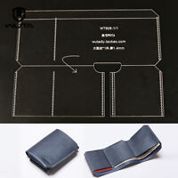 WUTA Leather Trifold Wallet Acrylic Template Leather craft pattern 928
