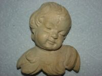 Hand-carved Wood Angel Bust - Wall Sculpture - One of a kind piece by J.B.