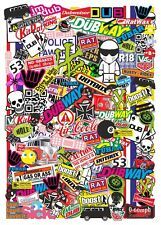 BIG 70x50cm Size EURO Style Multi COLOUR Vinyl Sticker Bomb Sheet JDM Drift UK