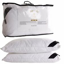 NEW PAIR OF SOFT EGYPTIAN COTTON MULBERRY SILK PILLOW 40% off RRP