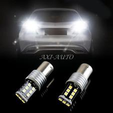 2X Error Free 1156 P21W LED White Turn Signal Brake Tail Light Bulbs 7506 BA15S