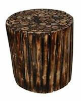HANDMADE WOODEN BEAUTIFUL ROUND STOOL / CHAIR / BEDSIDE / COFFEE TABLE FURNITURE