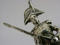 QUALITY SOLID STERLING SILVER NAPOLEONIC SOLDIER FIGURE LONDON 1982 MILITARY