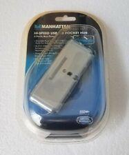 Manhattan 4-Port Hi-Speed USB Pocket Hub - Silver Model No. 160599
