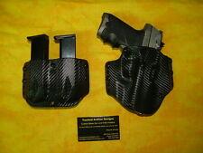 HOLSTER COMBO BLACK CARBON FIBER KYDEX Ruger P93DC P93 DC OWB W/DOUBLE MAG