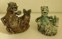 Studio Pottery Mythological Creatures Sea Serpents Clay Art Monsters Handmade