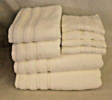 Bamboo Luxury Towel Set Eight Piece White Cotton Blend New