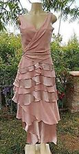 Bicici Rose pink Polyester Sleeveless S L Formall Evening Formal Layered Dress