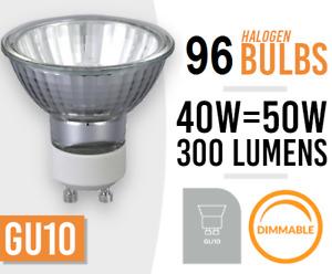 96x Dimmable GU10 40W/50W 240V Reflector Down Lighter Halogen Lamp Light Bulbs