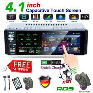 1DIN AUTORADIO RDS AM/FM BLUETOOTH FREISPRECHEINRICHTUNG 2 X USB TF AUX-IN MP3