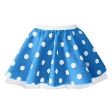 "CHILDREN'S 12"" POLKA DOT ROCK N ROLL TUTU Skirt 50s FANCY DRESS COSTUME"