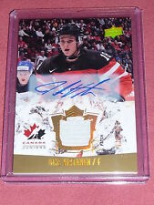 15-16 UD Team Canada Jake Virtanen World Juniors Auto Patch 18/125 1/1 HIS JSY#