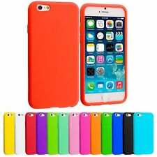 L#5 PLAIN SOFT SILICONE GEL RUBBER SKIN CASE BACK COVER FOR APPLE IPHONE 6s Plus