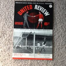Man United Review No 1 v West Bromwich Albion Played 20/8/1966