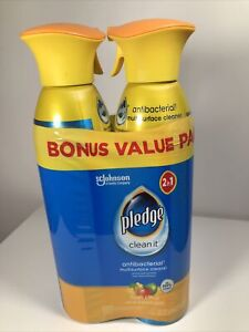 Pledge Multi-surface cleaner 2 Pk New & Free Shipping