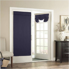 Eclipse Thermal Blackout Tricia Door Window Curtain Panel  26x68 midnight