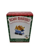 RARE 1998 NEW PLUTO'S COAL CAR CAR #2 MICKEY EXPRESS MERRY MINIATURES ORNAMENT