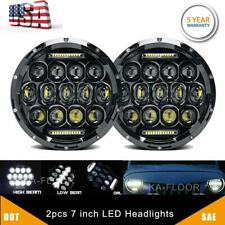 "2X Black 7"" inch Round LED Headlight Hi/Lo Beam 300W for JEEP Chevrolet C10 3100"