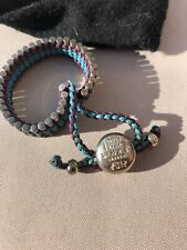 LINKS OF LONDON Limited Edition 2012 Olympics Adjustable Bracelet & Cloth Bag