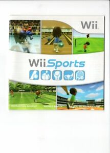 Wii Sports MANUAL Nintendo Wii INSERT ONLY Authentic