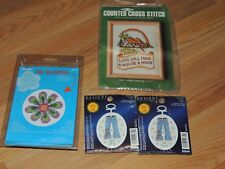 LOT OF 4 CROSS STITCH KITS BUCILLA MY 1ST STITCH DESIGNS SO CHIC MH HOME SAMPLER