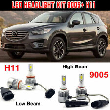 For Mazda CX-5 2016-2013 Car LED Headlight Kits 9005 H11 Hi/Lo Beam Bulbs 6000k