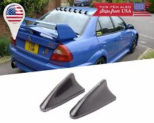 "2X H: 2.5"" Black Roof ABS Shark Fin Spoiler Wing Vortex Generator for Dodge"