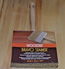 "Wooster Bravo Stainer 5 1/2"" Stain Brush 14cmx4cm Threaded Handle for Ext. Pole"