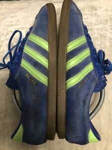 Adidas London Trainers Blue / Lime UK9 Originals Retro City Series 2010