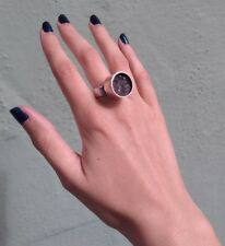 Jens Asby Groß Vintage Dänemark Modernist Sterlingsilber Druzy Ringgröße 6-1/2