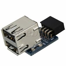 Motherboard 9 Pin USB Pin header to 2 Layer Type USB 2.0 A Female Ports Adapter