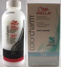 Wella Color Charm Permanent Hair Toner - T14 Pale Ash Blonde + 20 Developer