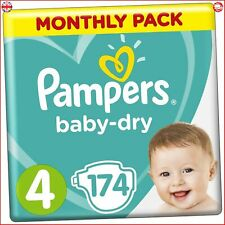 Pampers Baby Dry Nappies Monthly Saving Pack, Size 4
