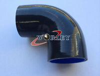 "Black Silicone 90° degree Elbow hose 89mm 3.5"" ID INTAKE TURBO INTERCOOLER PIPE"
