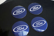 4Pcs 56.5mm Blue Ford Car Wheel Center Hub Cap Badge Emblem Decal Sticker